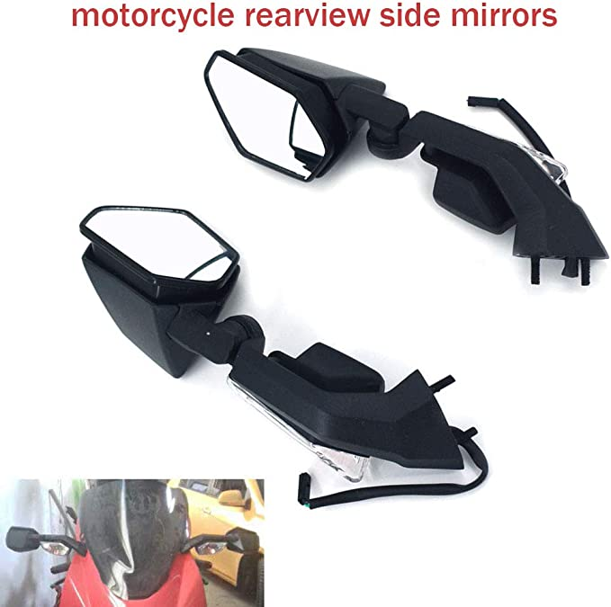 YSMOTO Motorcycle Rear View Side Mirrors Integrated Turn Signal Mirror For Honda CBR1000RR CBR 1000RR 2008-2012 Sport Bike With 2Pcs Plastic Mirror Black