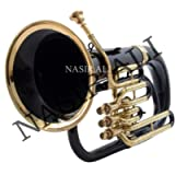 Nasir Ali Euphonium Black lacquered and Brass polished Bb 3 valve with hard case