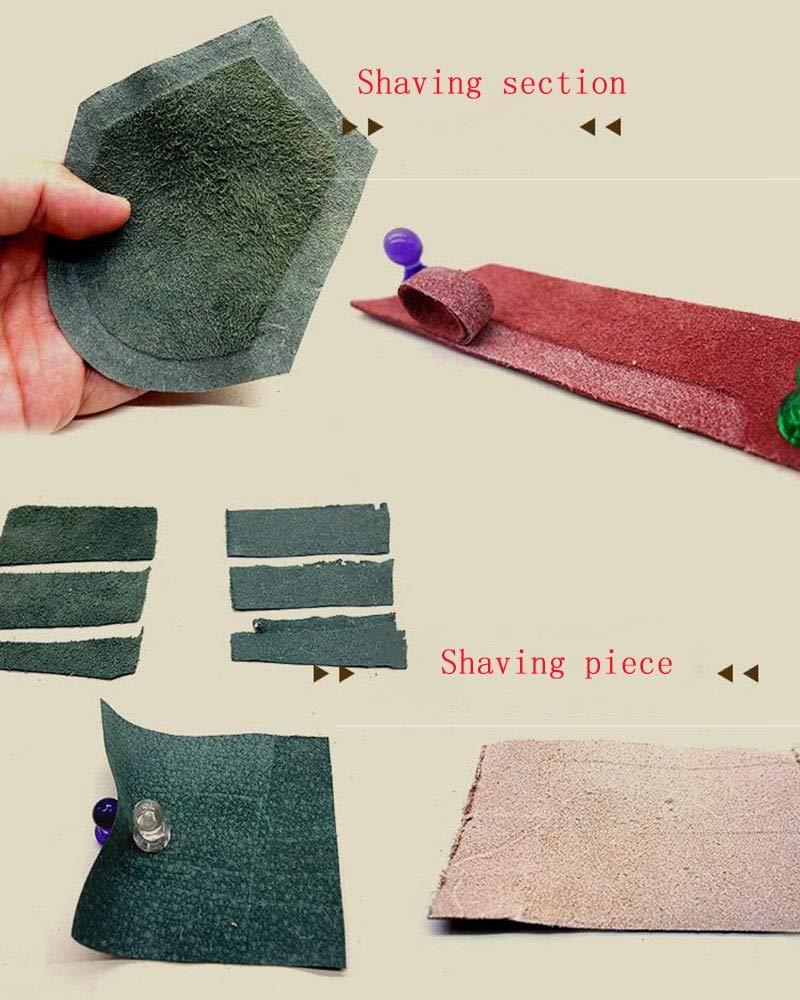 FINCOS Leather Skiver Peel Tool DIY Shovel Skin Machine Leather Splitter Peeling, manual leather edge skiver 1pc