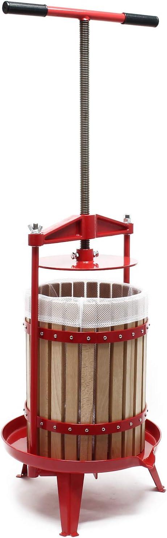 Prensa de fruta de madera Capacidad de 18 litros Prensa de husillo ...