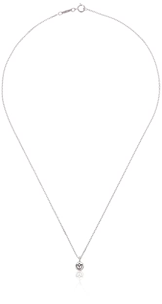 7a4272b785d734 Amazon.com: Satya Jewelry Sterling Silver Mini Lotus Necklace (18 ...