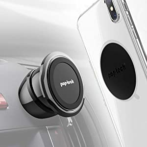 Universal Magnetic Phone Mount, Pop-Tech Stick-On Dashboard Magnetic Car Mount All-Metal Car Dash Cell Phone Mount Holder with Super Sticky 3M Adhesive for iPhone X XS 11 Pro Samsung S20 S10 Plus Etc