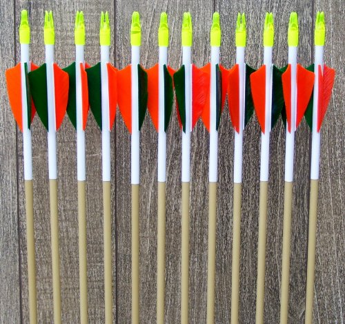 Fiberglass arrows (green and (Safety Glass Arrows)