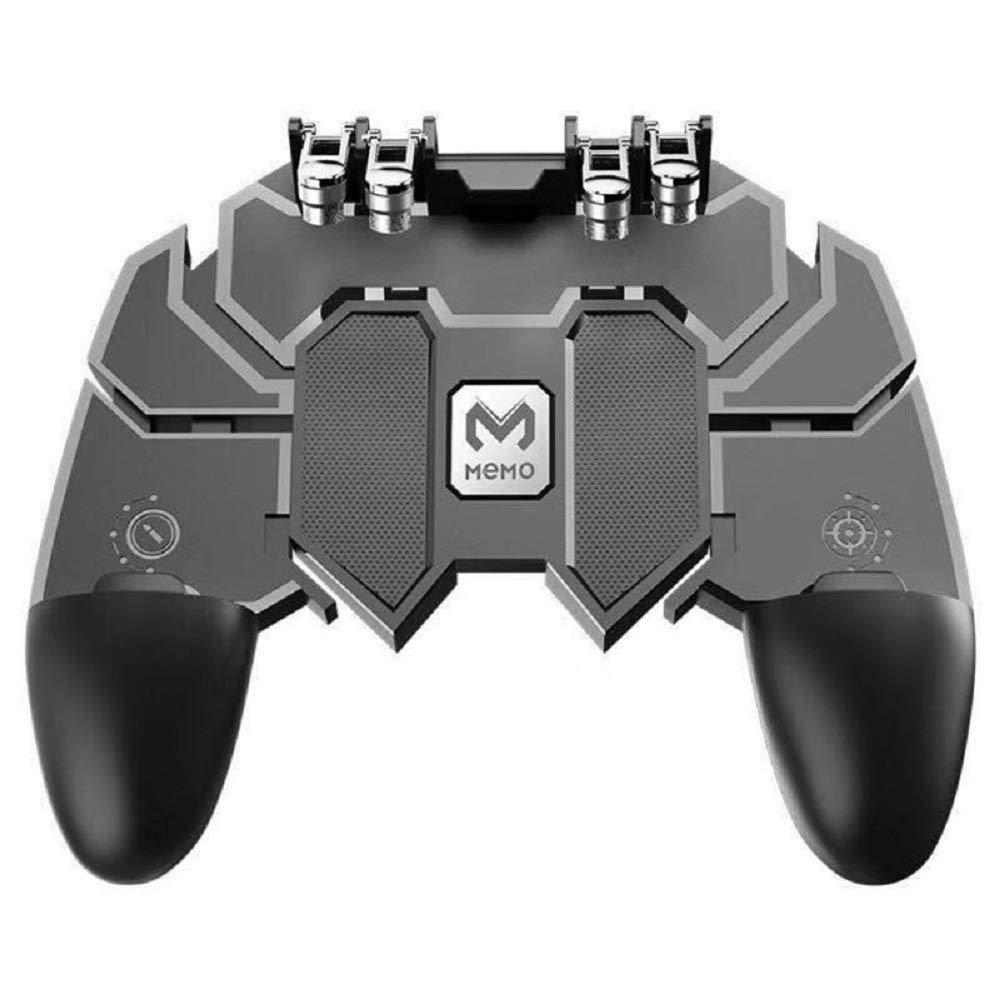 Tdhkad ASDQ AK66 6指オールインワンモバイルゲームコントローラ、無料の火災キーボタンジョイスティックゲームパッド、PUBGのためのL1 R1トリガー B07NWJ7MLN