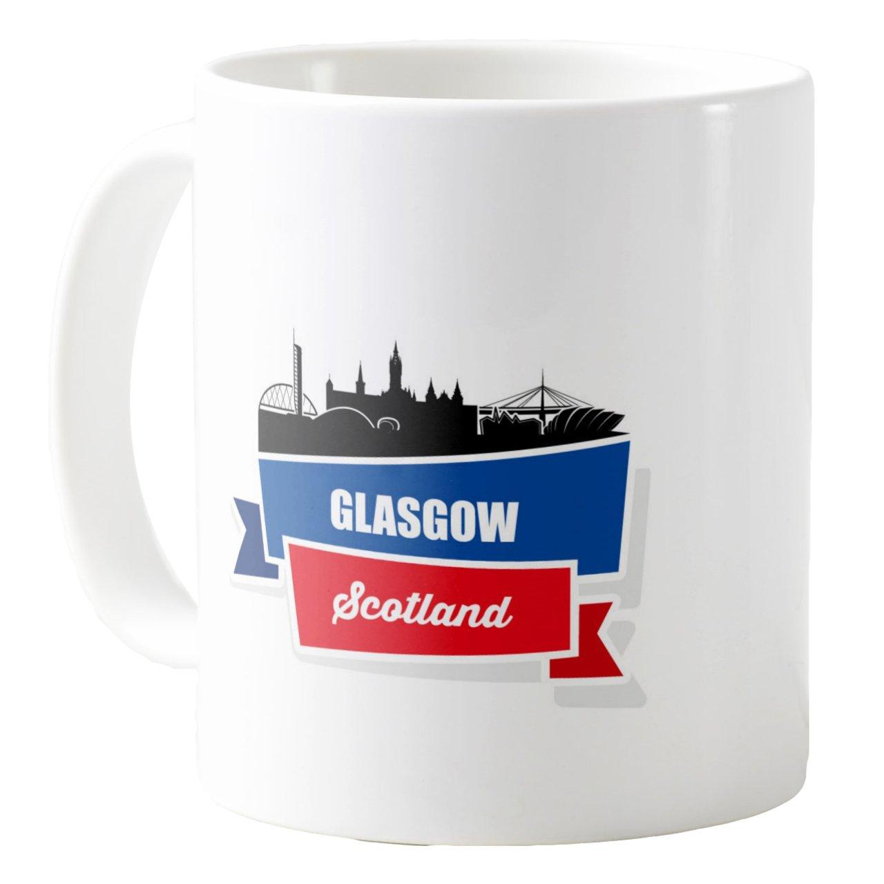 AquaSakura Glasgow Scotland 11oz Ceramic Coffee Mug Tea Cup