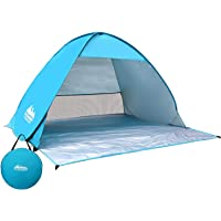 Pop Up Beach Tent Weisshorn Pop Up Camping Tent Beach Hiking Sun Shade Shelter Fishing Picnic Outdoor Dome Tent for 3…