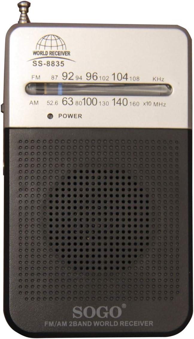 SOGO - SS-8835 Radio PORTATIL Am - FM - con Altavoz y sintonizador Analógico - Color Negro