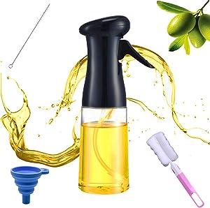 Olive Oil Sprayer for Cooking, Oil Mister for Air Fryer, Canola Oil Spritzer, Peanut Oil Spray Bottle Mist Air Sprayers Oil Sprayer Dispenser With Basting Brush, Cleaning Brush, Funnel for Cooking