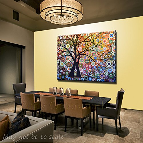 Large Art Painting Modern Wall Decor Trees Landscape