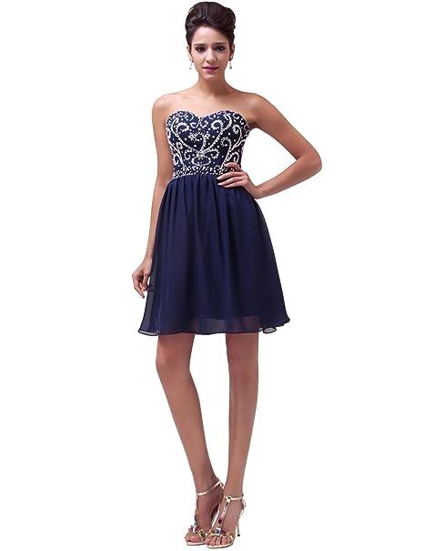 Vestidos de pantalón corto diseño de vestido de fiesta azul oscuro sin tirantes de novia de