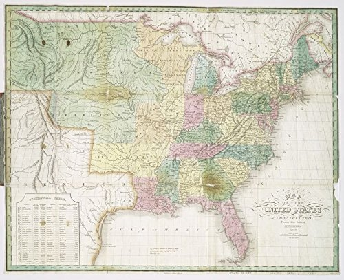 Historic 1827 Map | Map of the United States, constructed from the latest authorities | United States | United States -- MapsMaps of North America. |