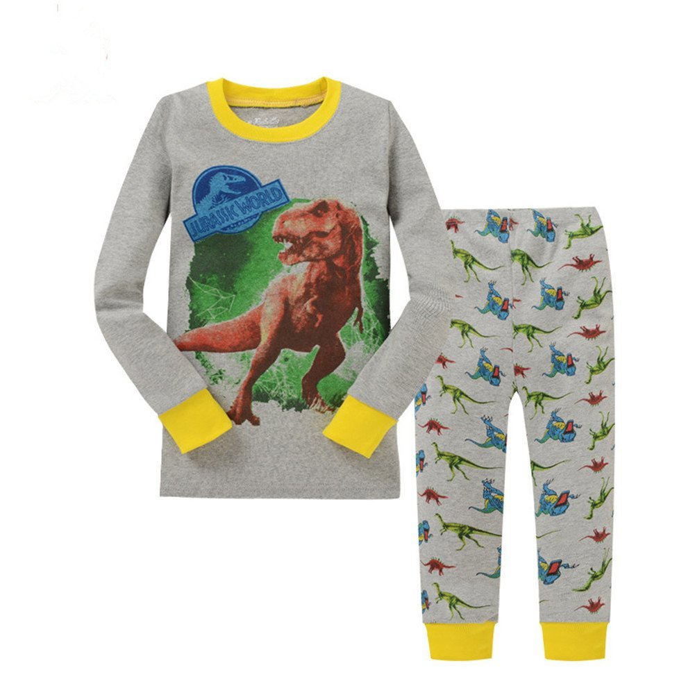 Kidsmall Dinosaur Baby Boys Cotton Pajama Set Sleepwear 2T-7T