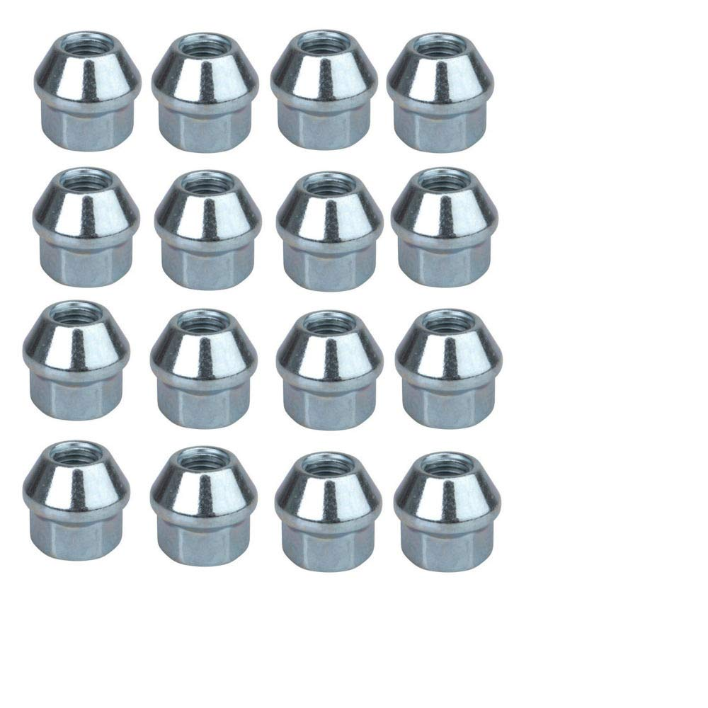 Tusk Style Tapered Chrome Lug Nut 4 Pack 10mm x 1.25mm Thread Pitch Nuts ATV