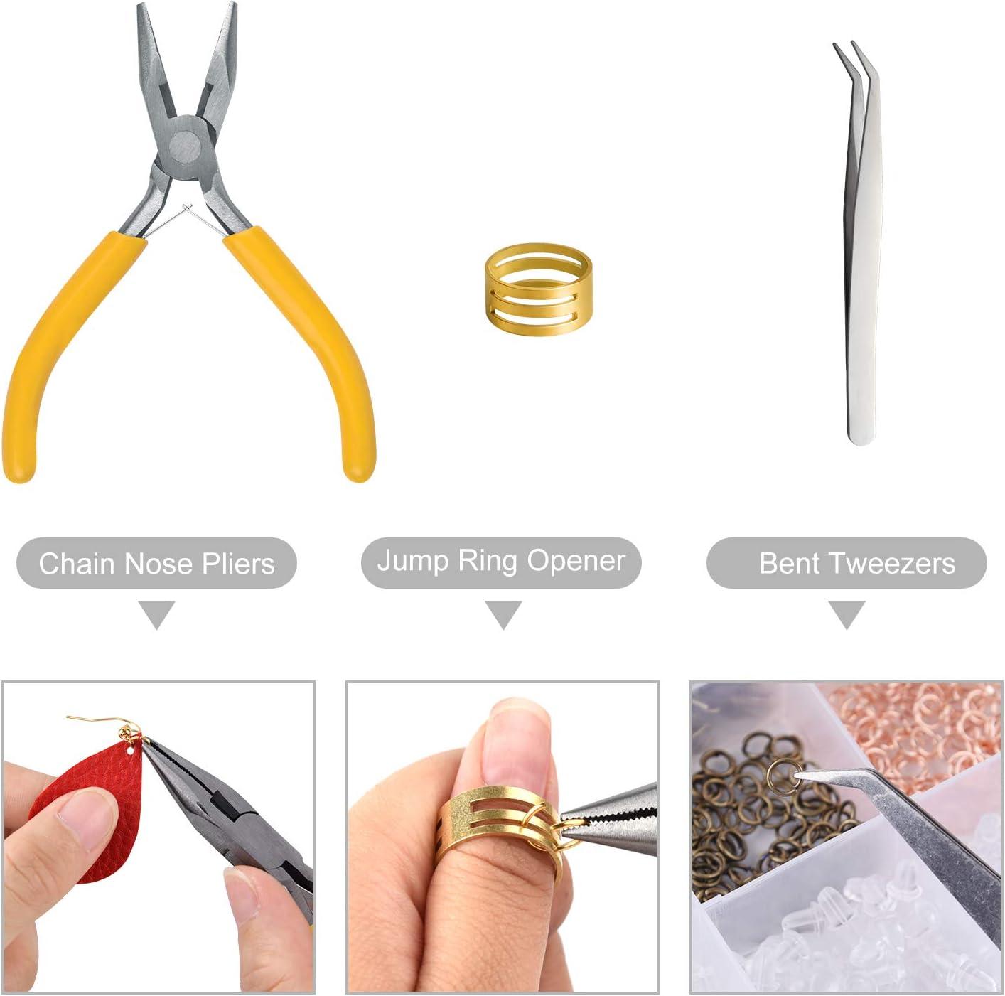 TUPARKA 2300PCS Earring Making Kits Jewelry Making Supplies Includes Earring Hooks Jump Rings Earring Backs Earring Cards for Jewelry Making and Earring Repair