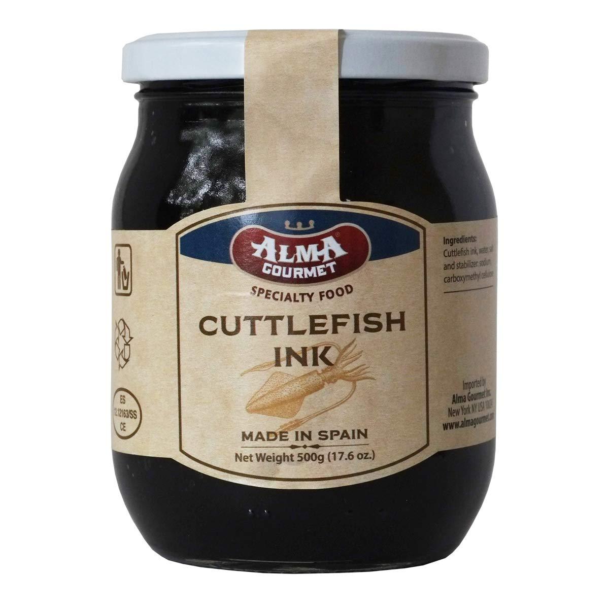 Alma Gourmet Cuttlefish Ink Jar (17.6 Ounce) 500 Gram