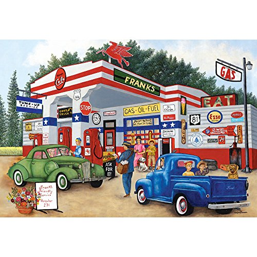 Bits and Pieces - 1000 Piece Jigsaw Puzzle for Adults 20X27 - Franks Friendly Service - 1000 pc Jigsaw by Artist Kay Lamb Shannon