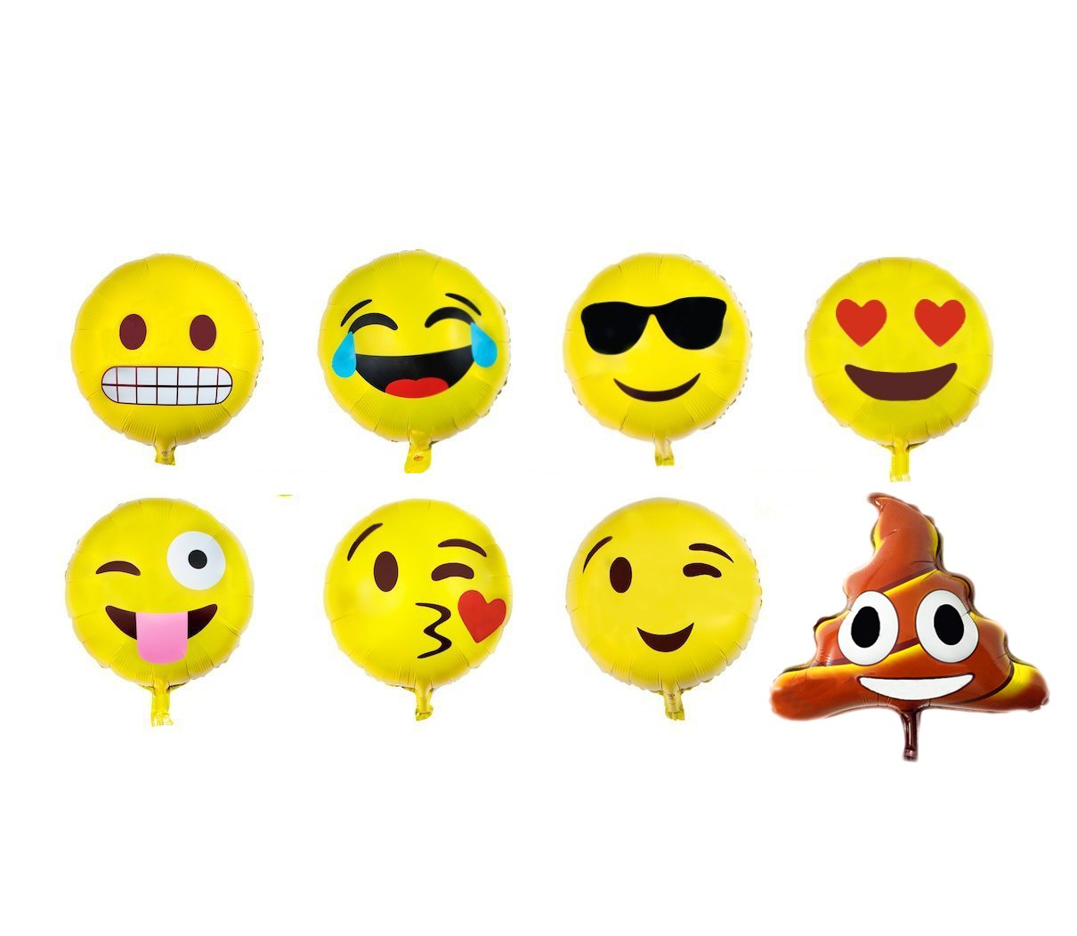 8 Emoji Expression Icon Pencils Loot Bag Filler Favors Gifts Birthday Party EY
