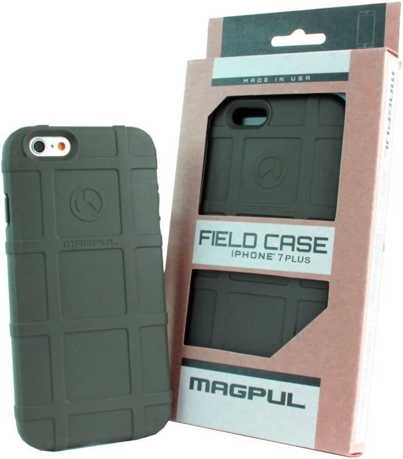 Phone Case Compatible with Apple iPhone 7 Plus / iPhone 8 Plus, with TJS [Tempered Glass Screen Protector] Magpul [Field] MAG849-ODG Polymer Protector Cover Retail Packaging (Olive Drab Green)