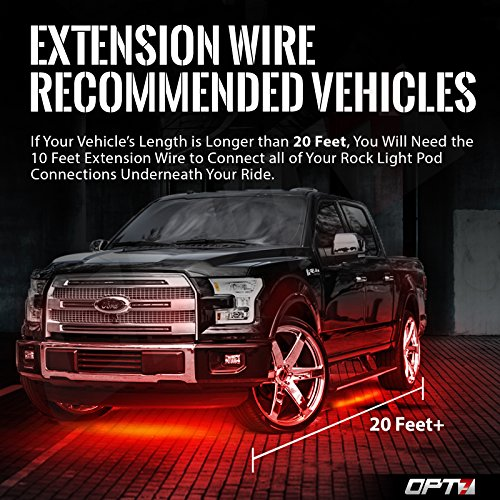 Does Not Connect to Single Color Pods OPT7 10 Ft Extension Wire for Aura RGB LED Rock Lights