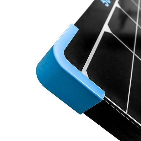 Close up of the corner of the Renogy 50 Watt Mini Eclipse Monocrystalline Solar Panel