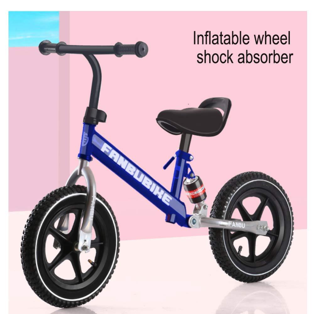 CHRISTMAD 12 Zoll Balance Bike -Einstellbare Sitzhöhe Kohlenstoffstahlgestell Pneumatisches Rad Ultra-Leichtgewicht + Schutzausrüstung, 2-6 Jahre Alt, 80-120 cm,A