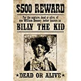 ArtEdge Billy The Kid Western Wanted Poster Print, 18 x 12