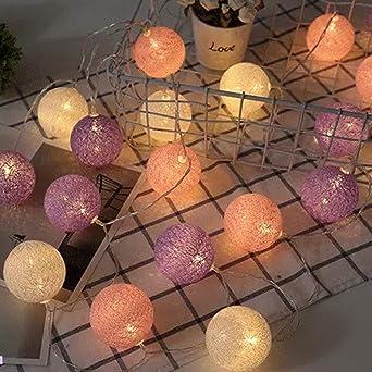 BOGEZ LED Luces de Hadas con 20 Bolas de Algodón 4m Bolas LED ...
