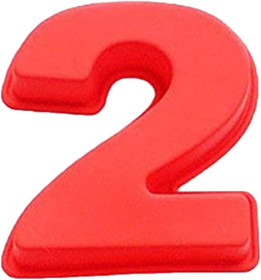 Birthday Number Silicone Cake Mold Pizza Pan Baking Cake Bread Kitchen DIY Mould,Easter Chocolate Silicone Mold,Cake,Pudding, Numbers And Letter Shape,Creative Household Food Grade Silicone Mould (2)