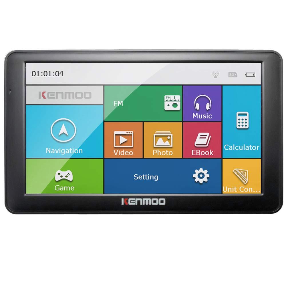 kenmoo 17,8 cm 8 Go /écran LCD TFT /écran tactile GPS Navigation GPS pour voiture//camion Cartes Europe et Royaume-Uni
