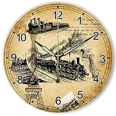 LTOOD Animal Lion Tiger Gran número Reloj de Pared Grande Reloj de niños Habitación Decoración del hogar Reloj de Pared Diseño Moderno para KidWhite12 ...