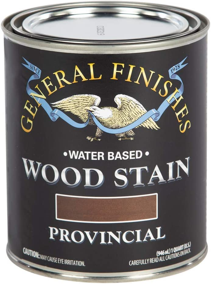General Finishes Water Based Wood Stain, 1 Quart, Provincial