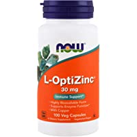 Now Foods L-OptiZinc, 30mg, Veg Capsules, 100ct
