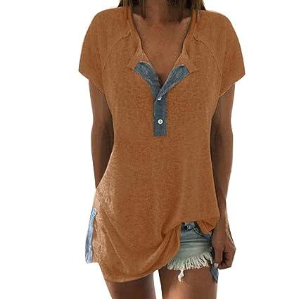Blusa sexy mujer ❤ Amlaiworld Camisetas de manga corta de verano de mujeres Blusas suelta