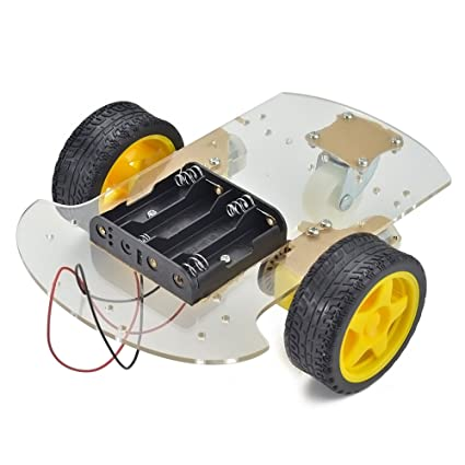 Amazon Com Emgreat Motor Robot Car Chassis Kit With Speed Encoder