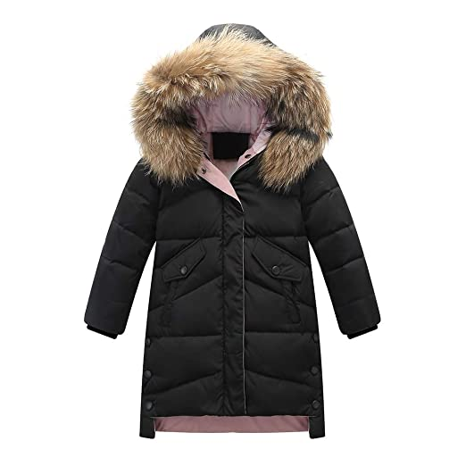 9ee1af0334f0 Amazon.com  SITENG Girls Kids Winter Hooded Down Coat Puffer Jacket ...