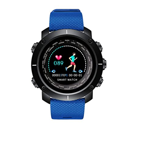 WangWtry 3D UI Smart Digital Reloj Inteligente Ritmo cardíaco Reloj Impermeable Hombre