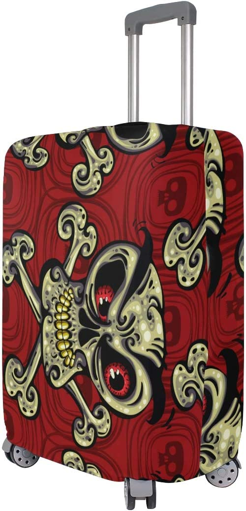 18//22//26//29 Inch Travel Suitcase Luggage Protective Cover with Angry Skeleton