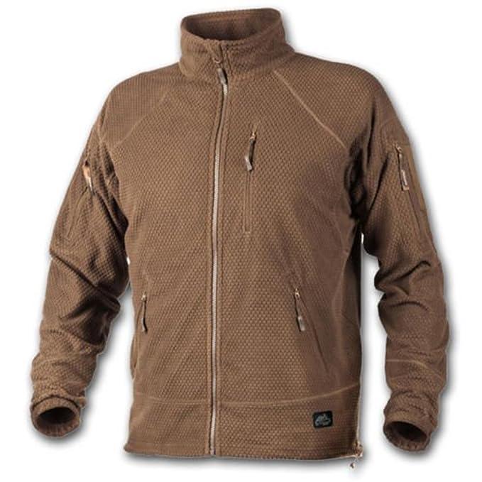 Alpha Tactical Jacket - Grid Forro Polar - Coyote, Color Marrón, tamaño Extra-Small: Amazon.es: Ropa y accesorios