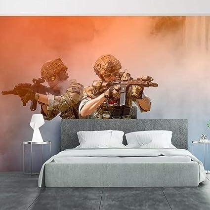XQFZXQ Mural PVC Auto-adhesivo Shootout Game Characters 3D