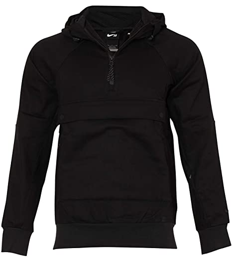 Amazon.com  Nike Everett Anorak Jacket - Men s Black black black ... 4833a98c9237