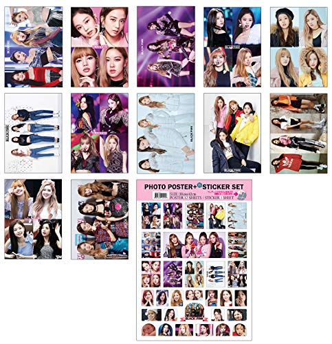 IDOLPARK K-POP Group 2019 New 12 Posters + 1 Sticker Set (All A3 Size) (Blackpink)