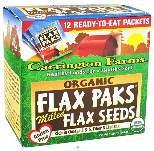 Organic Milled Brown Flax Pack 5.80 Ounces (Case of 6) by Carrington Farms