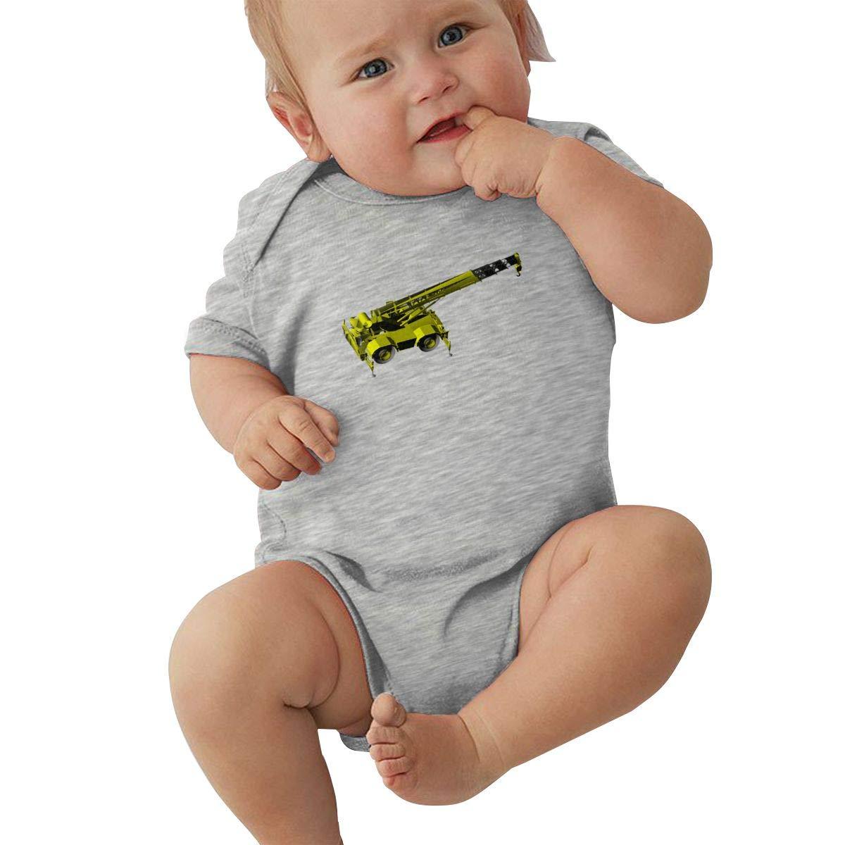 Cotton Baby Onesies-Unisex Breathable Rompers Forklift Model Bodysuits Lab Shoulder Neckline Jumpsuit Infant One-Piece Outfit Short Sleeve Jersey 0-24 Months