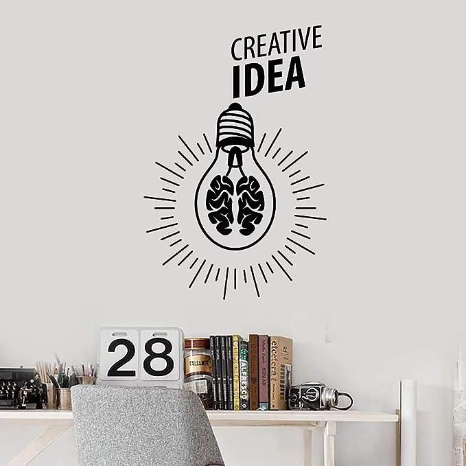 jiuyaomai Lámpara Luz Cerebro Idea Pegatinas de Pared para Oficina ...