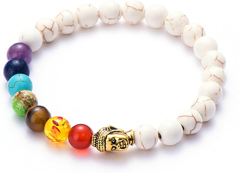 7 Chakra Natural Healing Stones Choker Necklace Bracelet   NEW