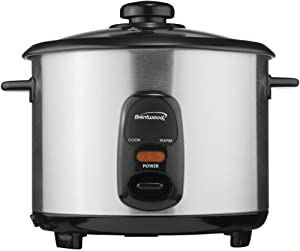 Brentwood TS-20 Rice Cooker, 10-Cup, Stainless Steel