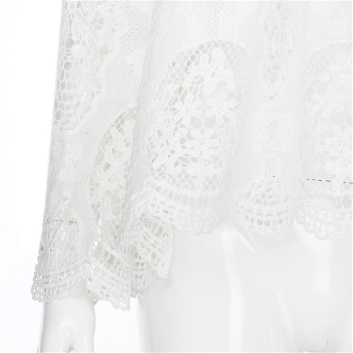 Bellelove Femmes Manches Courtes Tops Dames Slash Neck Off /épaule Dentelle /évider L/âche Blouse Printemps T-Shirt Blanc Dautomne