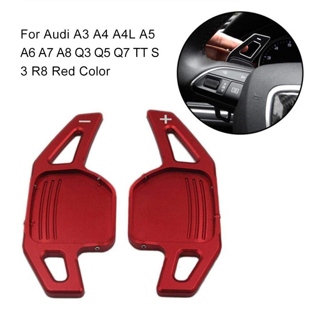 Brownrolly 2 Pezzi squisita Scatola in Lega di Alluminio Volante Cambio Scatola di Estensione Paddle Accessori Interni per Audi A3 A4 A4L A5 A6 A7 A8 Q3 Q5 Q7 TT S3 R8