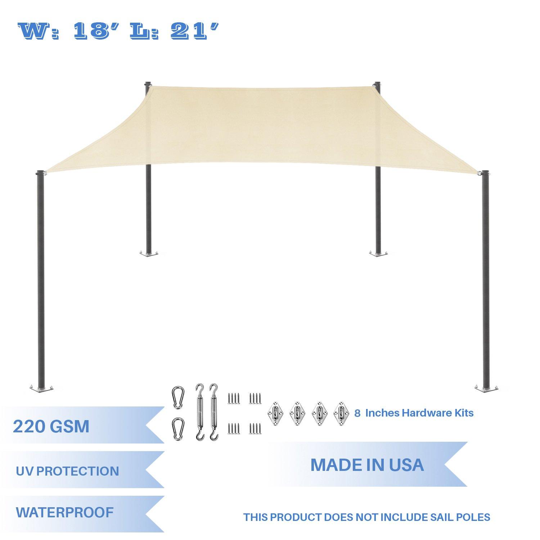 E&K Sunrise - Parasol rectangular, impermeable con bloqueo de ...