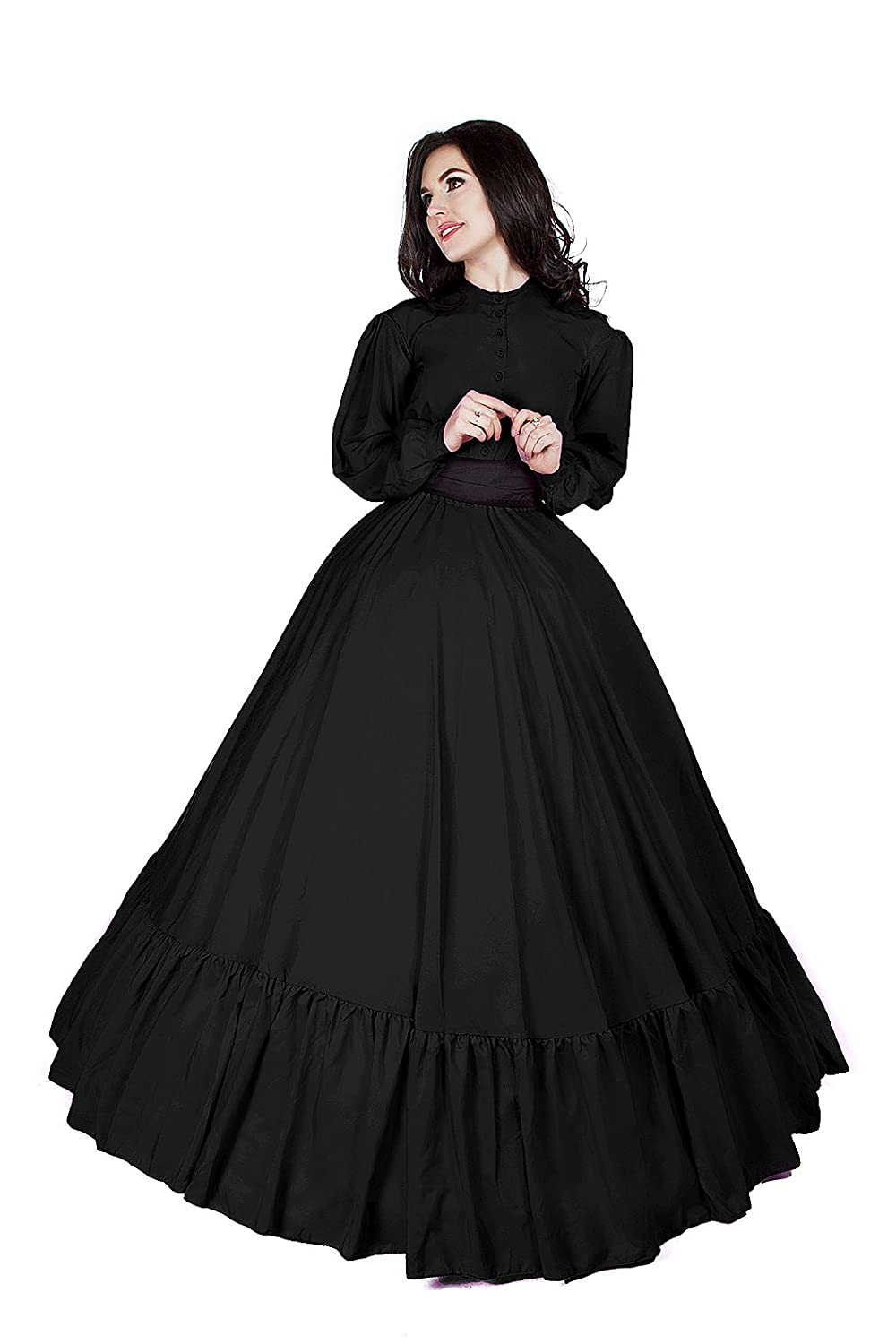 Victorian Dresses | Victorian Ballgowns | Victorian Clothing 1860 Civil War Reenactment Victorian Garibaldi 3 Piece Dress $89.99 AT vintagedancer.com
